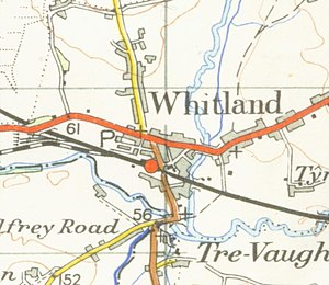 Whitland - A map of Whitland from 1952