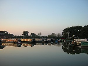 Llangollen Canal - Image: Whixall Marina Evening