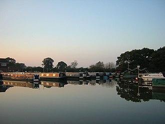 Llangollen Canal - Image: Whixall Marina Evening