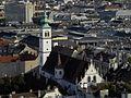 Wien - Franziskanerkirche vom Stephansdom gezoomt.jpg