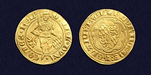 William I, Duke of Bavaria - Holland, Gold florin of William of Bavaria, struck between 1350-1389 as William V, Count of Holland.