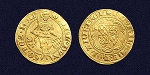 William I, Duke of Bavaria - Holland, Gold florin of William of Bavaria, struck between 1350-1389 as William V, Count of Holland.