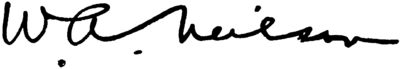 [Signed] W. A. Neilson