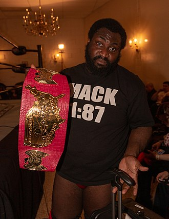 NWA National Heavyweight Championship - Current champion Willie Mack with the title in March 2019