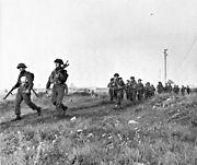 Winnipeg Rifles advance inland