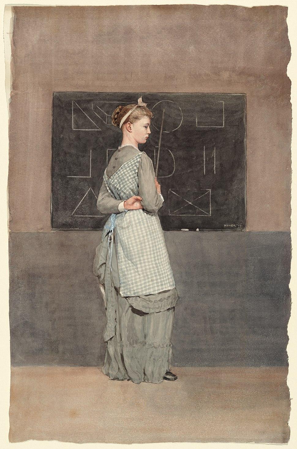 Winslow Homer - Blackboard (1877)