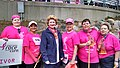 With breast cancer advocates at the Komen Race for the Cure in Detroit. (18212029009).jpg