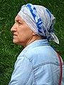 Woman with Headscarf - Along Khreschatyk Street - Kiev - Ukraine (41902962860).jpg