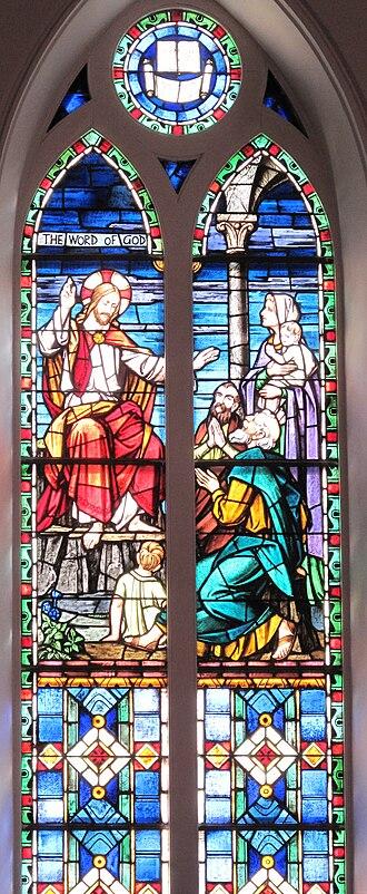 Logos (Christianity) - Word of God Window at St. Matthew's German Evangelical Lutheran Church in Charleston, South Carolina