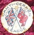 World War I-era Australian 'Anti-German League' badge circa 1915.jpg