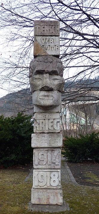Fritz Wotruba - Image: Wotruba Denkmal WWI Donawitz c