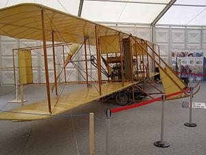 Wright Model B - Wright Model B reproduction on display at the Farnborough Airshow 2008