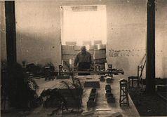 Yaakov Wiernik build Treblinka camp model in Lohamey Hagetaot Museum 2