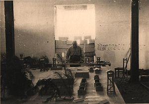 Jankiel Wiernik - Jankiel Wiernik building a model of the Treblinka death camp