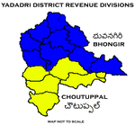 Yadadri District Revenue divisions.png
