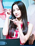 Yeonwoo at a Fansign event in Mokdong on July 1, 2018 (3).jpg