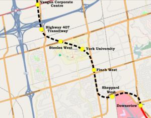 MoveOntario 2020 - Spadina Line extension into York Region.