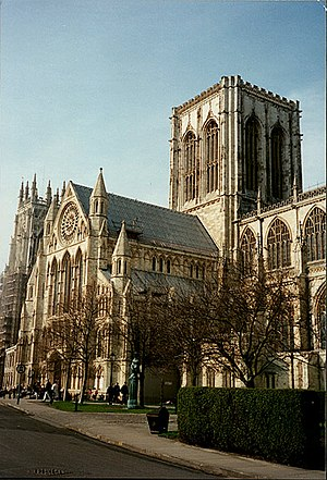 City status in the United Kingdom - Until the 19th century, city status in England and Wales was associated with the presence of a cathedral, such as York Minster.