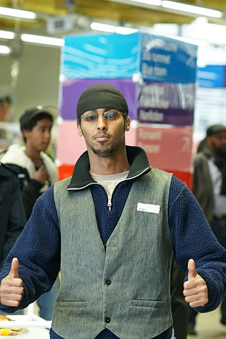 A Somali man giving a thumbs up signal Young Somali man 2.jpg
