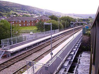 Ystrad Rhondda railway station - Ystrad Station in August 2008