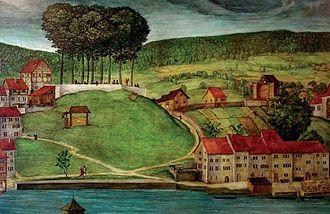 Oppidum Zürich-Lindenhof - Lindenhof, Sihlbühl and Schipfe by Hans Leu d.Ä. in the probably 1490s