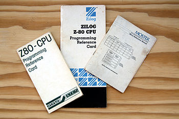 "English: 3 binding of manual ""Z80 CPU Pro..."