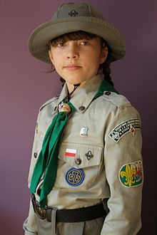 ZHP Polish Scouting Association Brownie in uniform.jpg