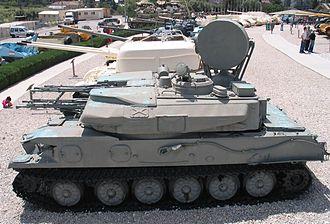 ZSU-23-4 - ZSU-23-4 at Yad la-Shiryon Museum, Israel.