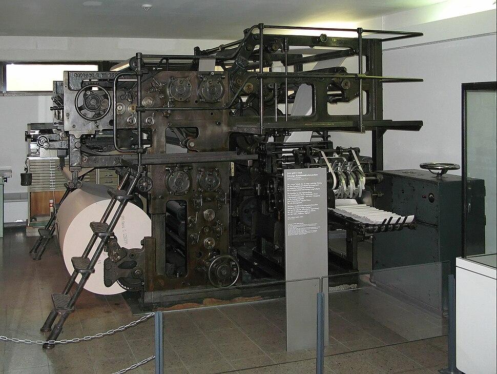 Zeitungsdruckmaschine Deutsches Museum