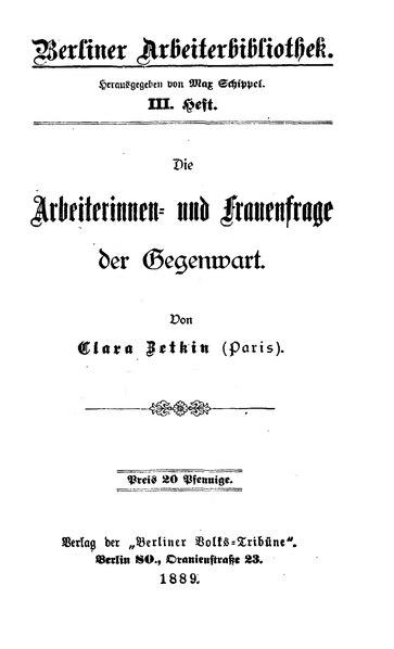 File:Zetkin Arbeiterinnen- und Frauenfrage.djvu