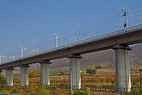 Zhangjiakou-Hohhot HSR near Ulanqab-Hohhot Border (20171007150437).jpg
