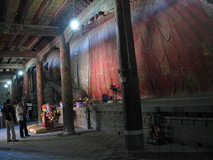 Dafo Temple, Zhangye - The hall with reclining Buddha