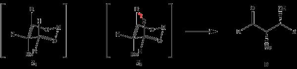 Anordnung des Z-Enolats