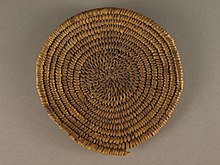 A color picture of a woven basket