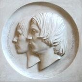 Robert Schumann und Clara Schumann 1846, Relief von Fritz Klimsch nach dem Original von Ernst Rietschel (Quelle: Wikimedia)