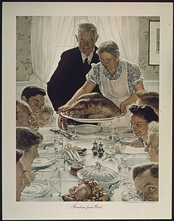 <i>Freedom from Want</i> (painting) Painting by Norman Rockwell