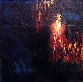 Sheila Cameron (artist) - Hell 14 is one of the pieces painted in response to Saltz's direct challenge