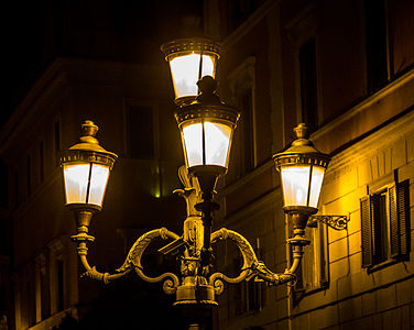 Rome - Italy - Street light near the Trevi fountain.