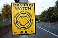 'Campus Watch' sign, Belfast - geograph.org.uk - 1536565.jpg