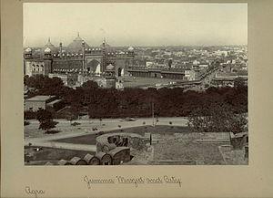 Jama Mosque, Agra - Jama Masjid and Agra city,1890s.