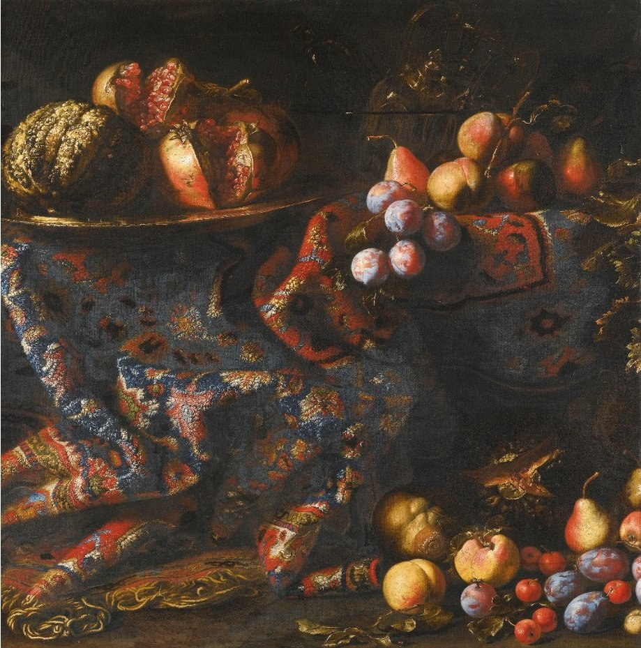 'Still Life of Pomegranates, Peaches, Apples and other Fruit' by Francesco Noletti