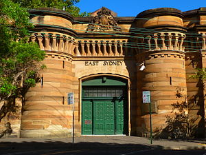 Darlinghurst Gaol - The imposing entrance to the gaol