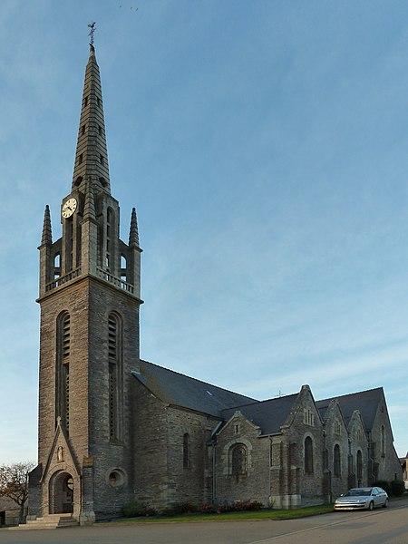 English:  Saint-Just church in Saint-Just, Bretagne, France.
