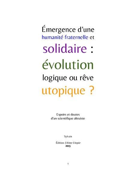 File:Émergence d'une humanité fraternelle et solidaire; évolution logique ou rêve utopique?.pdf