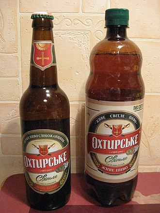 "Okhtyrka - Products of local brewery, ""Okhtyrske"" brand"
