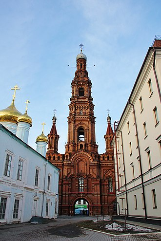 Bauman Street, Kazan - The belltower of Epiphany Church, a landmark on Baumana Street
