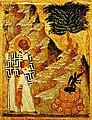 Святий Миколай виганяє біса із колодязя.jpg