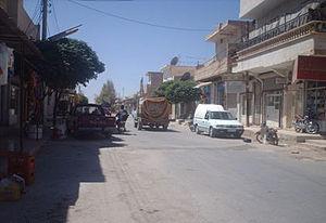 Abu al-Duhur - Street scene in Abu al-Duhur, 2014