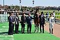 カミノタサハラ 新馬戦 ウィナーズサークル.JPG