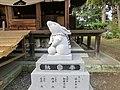 淡海國玉神社にある2011年うさぎ年の石像 - panoramio.jpg